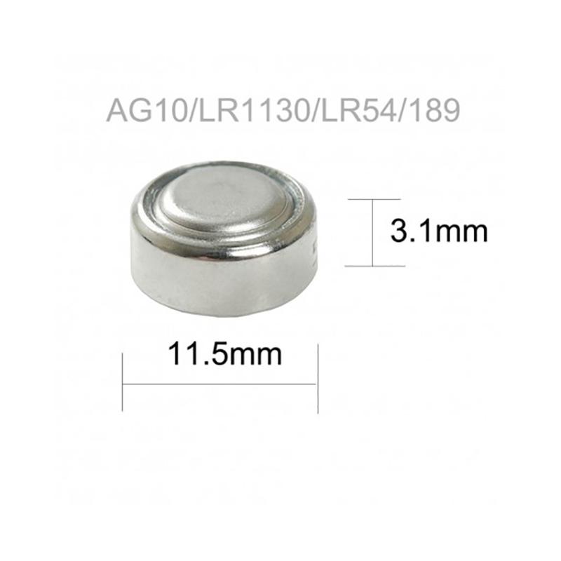 Pilas BOTON AG10 LR54